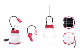 SunBell, multifunctional solar lamp.